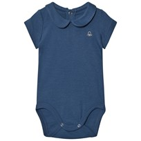 United Colors of Benetton Classic Logo Baby Body in Navy Navy
