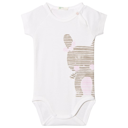 United Colors of Benetton Jersey Bunny Baby Body White White