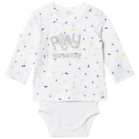 United Colors of Benetton Printed Sweater Baby Body Vit White