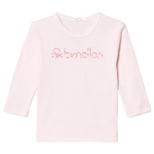 United Colors of Benetton L/s Logo T-shirt Light Pink Light Pink