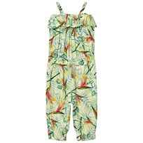 United Colors of Benetton Leaf Print Muslin Jumpsuit Multi