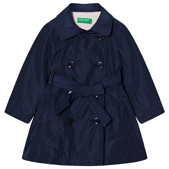 United Colors of Benetton Smart Double Belted Trenchcoat Marinblå Navy