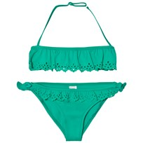 United Colors of Benetton Frilly Halter Neck Bikini Grön Green