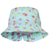United Colors of Benetton Aqua Blue Polka Dot Sun Hat Aqua Blue
