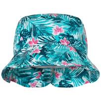 United Colors of Benetton Leaf Print Sun Hat Green