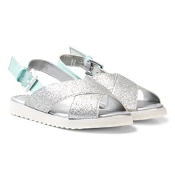 United Colors of Benetton Cross Front Sandaler Silver