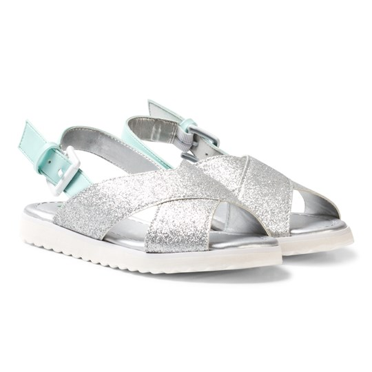 United Colors of Benetton Cross Front Sandals Silver Silver