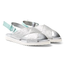United Colors of Benetton Cross Front Sandals Silver