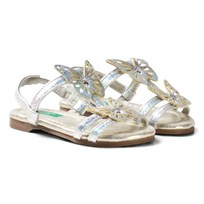 United Colors of Benetton Butterfly Sandals With Ankle Strap Silver Silver