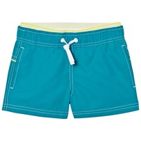 United Colors of Benetton Blue Swim Shorts with Logo Waist Band Blue