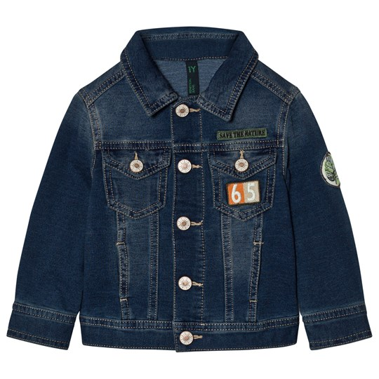 United Colors of Benetton Denim Jacket With Patches Blue Blue