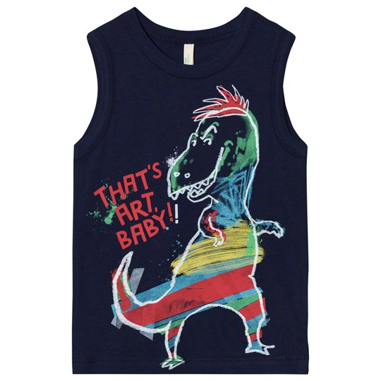 United Colors of Benetton Dinosaur Print Tank Top Navy Navy