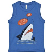 United Colors of Benetton Shark Print Tank Top Blue Blue