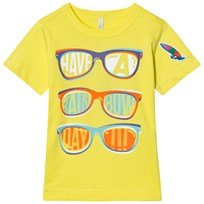 United Colors of Benetton Sun Glasses Print T-Shirt Yellow Yellow