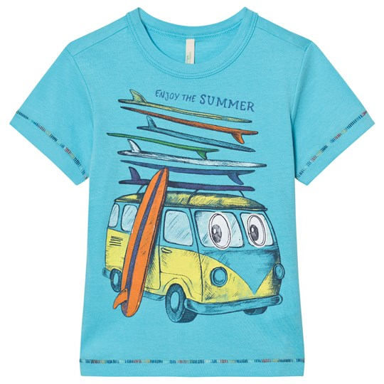 United Colors of Benetton Blue Mini Van Surf Print T-shirt Bright Blue