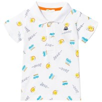 United Colors of Benetton Surf Print Polo T-shirt White