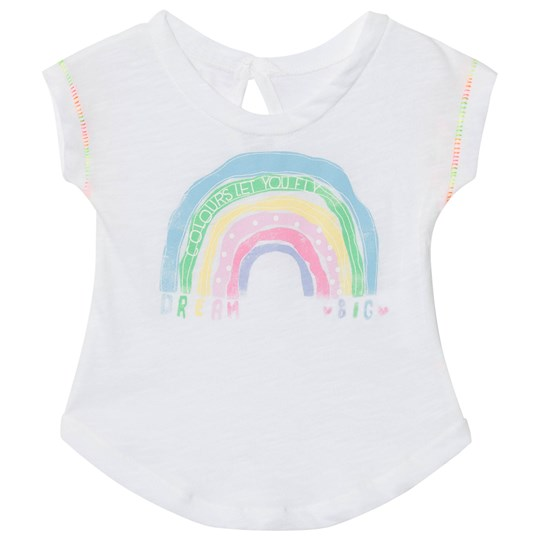 United Colors of Benetton Rainbow Print White T-Shirt White