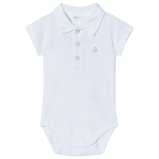 United Colors of Benetton Cotton Polo Baby Body with Collars in White White