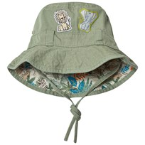 United Colors of Benetton Khaki Safari Print Sun Hat Khaki Green