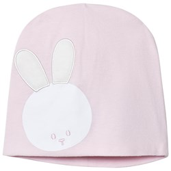 United Colors of Benetton Jersey Beanie With Bunny Detail Pink