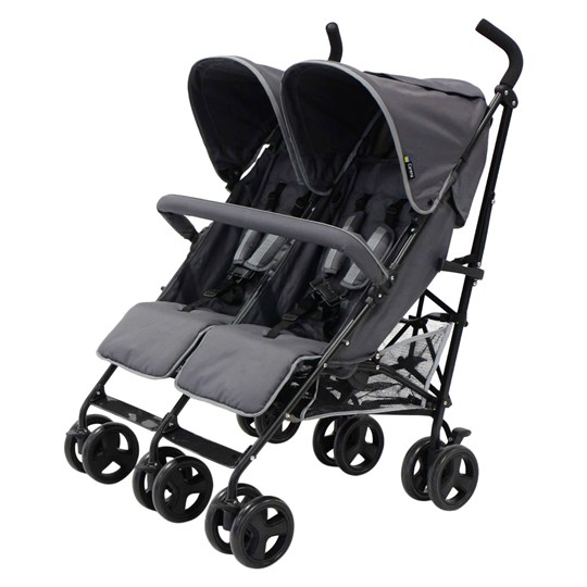Carena Orust Double Stroller 2017 Grey Black