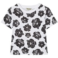 Kenzo White Black All Over Tiger Print Tee 01