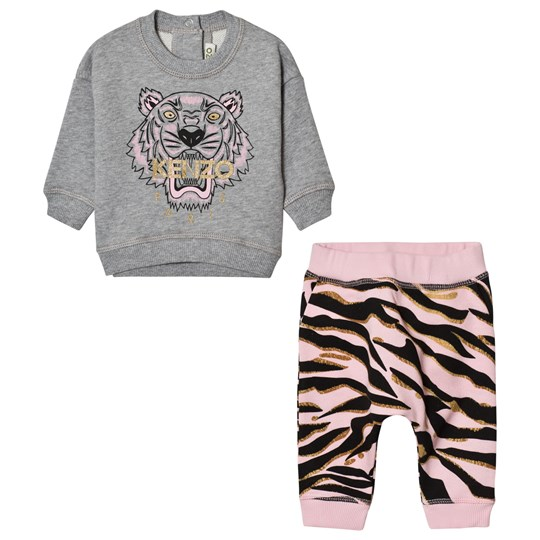 Kenzo Pink Tiger Sweatshirt Printed Pattern Sweat Pants 20
