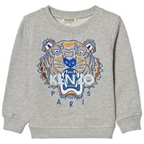 Kenzo Grey and Blue Embroidered Sweat Shirt 22