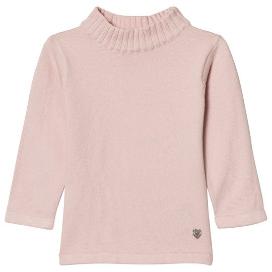 Mayoral Pale Pink Rib Polo Neck Jumper 30