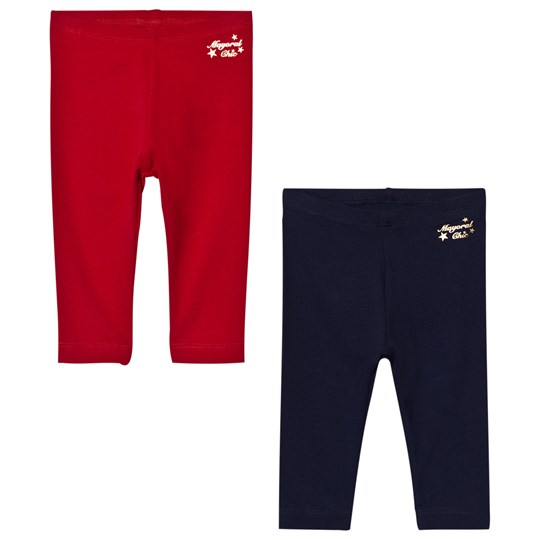 Mayoral 2 Pack of Red and Navy Leggings 58