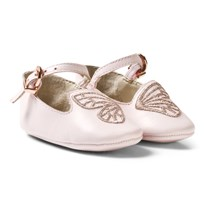 Sophia Webster Mini Pink Bibi Butterfly Crib Shoes Pink & Silver