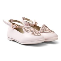 Sophia Webster Mini Pink Bibi Butterfly Shoes Pink & Silver