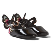 Sophia Webster Mini Chiara Embroidered Butterfly Crib Shoes Black/Multi Black & Multi
