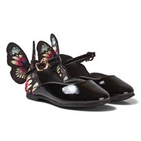 Sophia Webster Mini Chiara Embroidered Butterfly Shoes Black/Multi Black & Multi