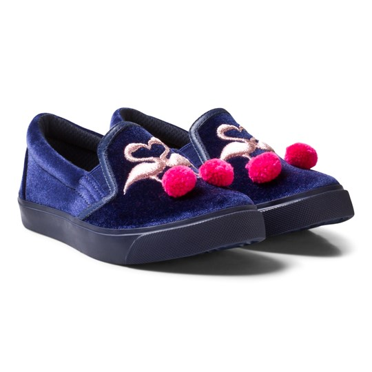 Sophia Webster Mini Kingston Flamingo Slip-ons Navy Navy & Pink