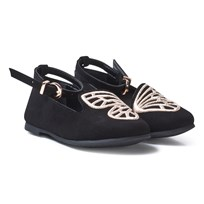 Sophia Webster Mini Black Bibi Butterfly Shoes Black & Rose Gold