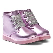 Sophia Webster Mini Pink Metallic Wiley Ankle Royaly Boots Rosa Metallic