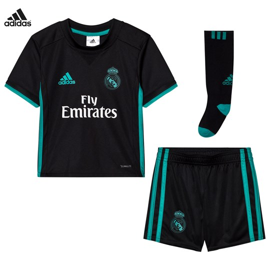 Real Madrid Real Madrid ´17 Kids Away Set Top:BLACK/AERO REEF S11 Bottom:BLACK/AERO REEF S11