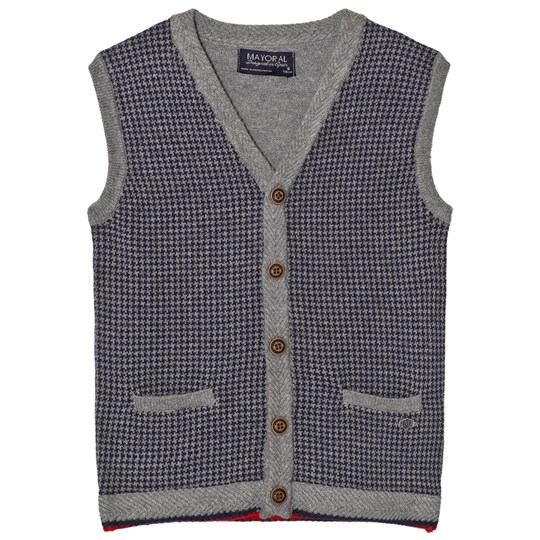 Mayoral Grey Houndstooth Design Vest 67