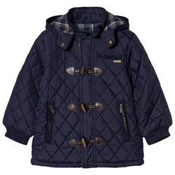 Mayoral Navy Quilted Duffle Coat