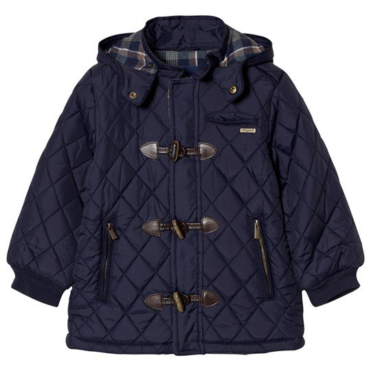 Mayoral Navy Quilted Duffle Coat 34