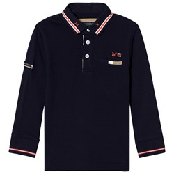 Mayoral Navy Long Sleeve Polo