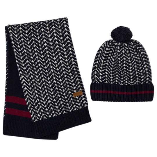 Mayoral Navy Knitted Hat and Scarf Set 79