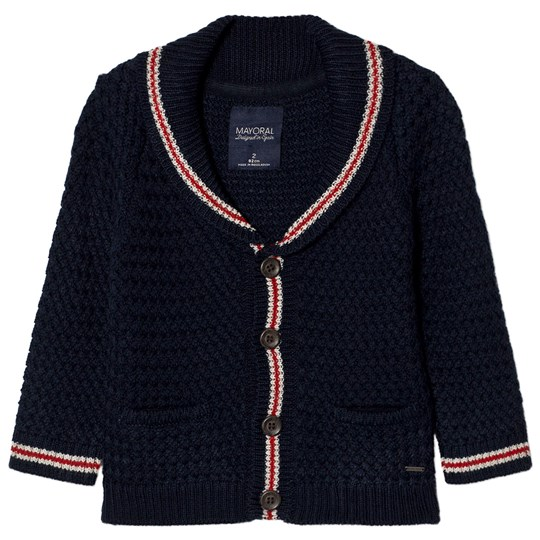 Mayoral Navy Red Detailing Chunky Cardigan 14