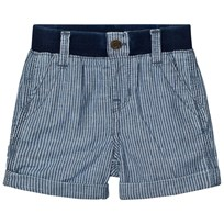 GAP Railroad Stripe Pull-on Shorts Blue Railroad Stripe
