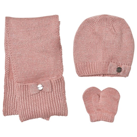 Mayoral Pink Knitted Hat, Scarf and Mittens Set 89