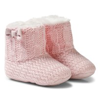 Mayoral Pink Knitted Faux Fur Lined Booties 55