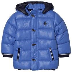 Mayoral Blue Hooded Puffer Coat