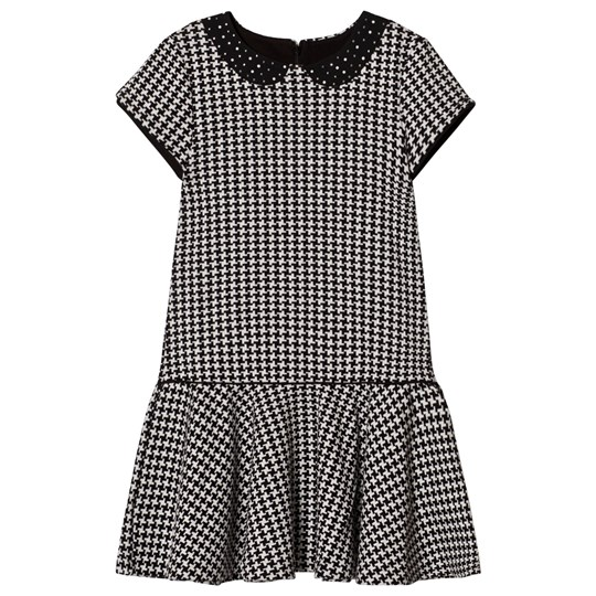 Mayoral Black and White Houndstooth Dress 22