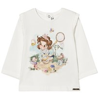 Mayoral Butterfly Girl Print Tröja Off White 85